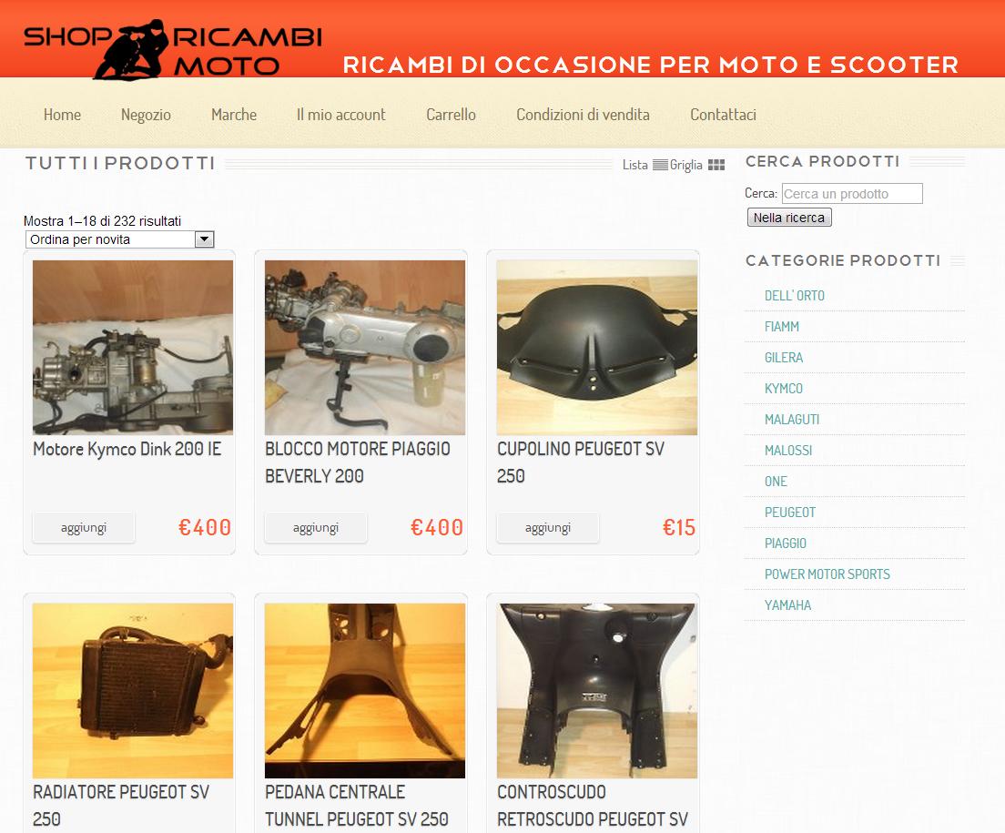 shop ricambi moto